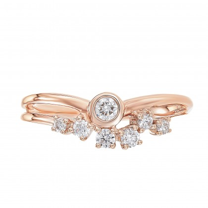 Young Collection Split Band Diamond Ring in 375/9K Rose Gold 261440821