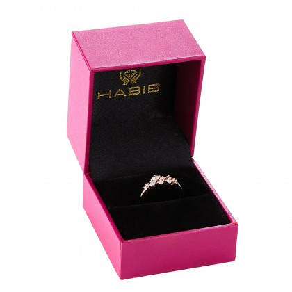 Young Collection Round Diamond Ring in 375/9K Rose Gold 261470821