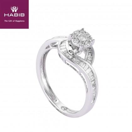 Araceli Diamond Ring in 375/9K White Gold 25763