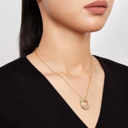 Oro Italia 916 White, Yellow and Rose Gold Necklace (11.77G) GC26170521-TI