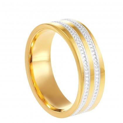 Oro Italia 916 White and Yellow Gold Ring (4.41G) GR45050221-BI