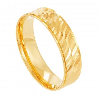 Oro Italia 916 Yellow Gold Ring (3.80G) GR4179