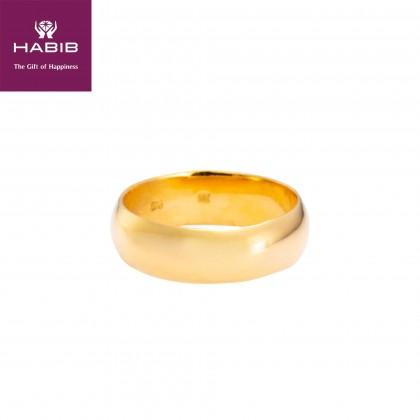 Darla Belah Rotan Gold Ring, 916 Gold (6.75G) GR009