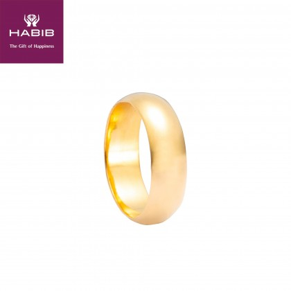 Darla Belah Rotan Gold Ring, 916 Gold (7.31G) GR009