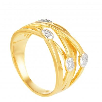 Malva Yellow and White Gold Ring, 916 Gold (5.97G) R6038
