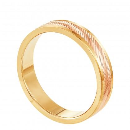 Oro Italia 916 Yellow and Rose Gold Ring (5.45G) GR45750421(RY)-BI