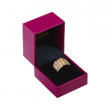 Oro Italia 916 Sicilia White and Yellow Gold Ring (6.01G) GR4344-BI