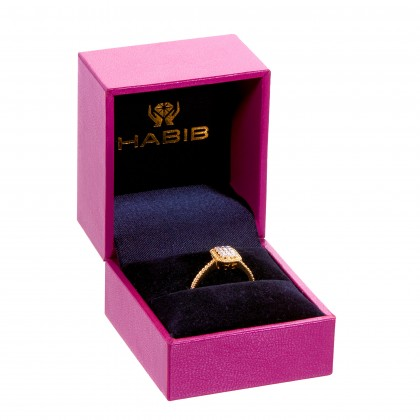 Oro Italia 916 White and Yellow Gold Ring (2.80G) GR45450321-BI