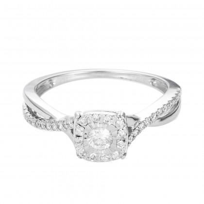 Giselle Diamond Ring in 375/9K White Gold 24847