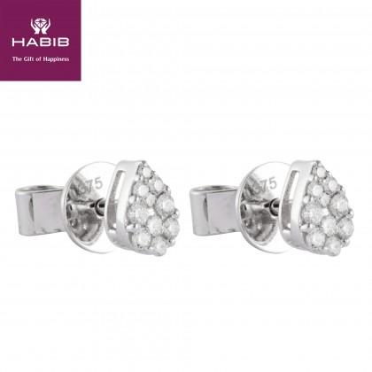 Aricia Round Diamond Earrings in 375/9K White Gold 45626