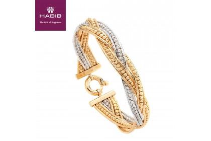 HABIB Oro Italia Reese Gold Bangle, 916 Gold (30.08G)