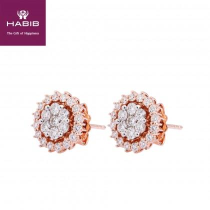 Amora Diamond Earrings in 750/18K Rose Gold