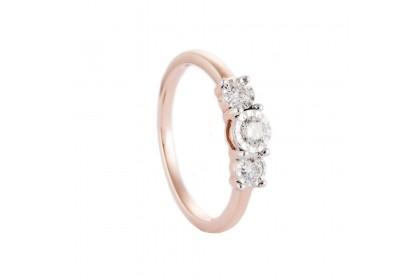 Trilogy Rose Gold Diamond Ring