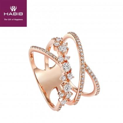 Ezra Diamond Ring in 750/18K Rose Gold 257991119
