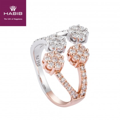 Adore Alanna Diamond Ring in 750/18K White and Rose Gold 25746