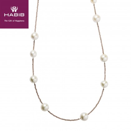 Zinnia Pearl Necklace