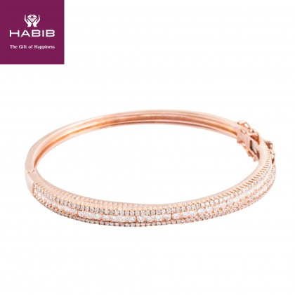 Duchess Diamond Bangle in 375/9K Rose Gold 67690