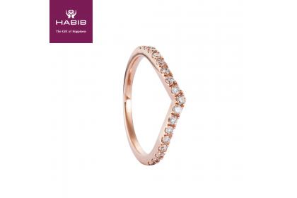 Rose V-Shape Diamond Ring