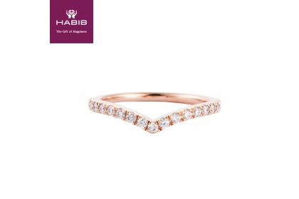 Rose V-Shape Diamond Ring