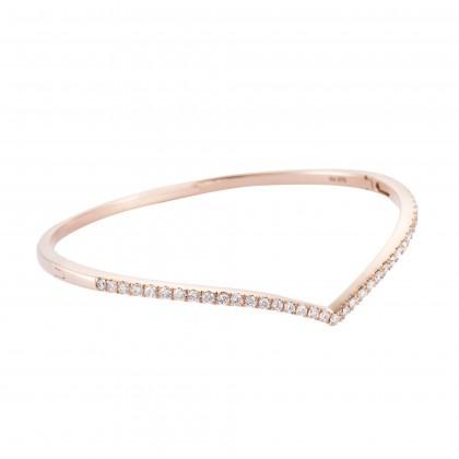 V-Shape Diamond Bangle in 375/9K Rose Gold 25797(B)